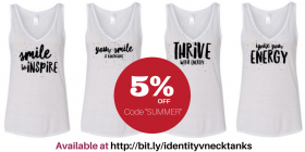 5% off : Positive Summer V-Neck Tanks