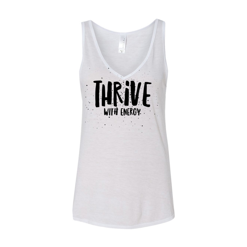 Thrive With Energy: Flowy V-Neck Tank Top