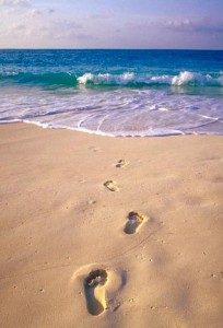 Inspirational Life Quote Footprints In Sand 204x300 Identity Magazine